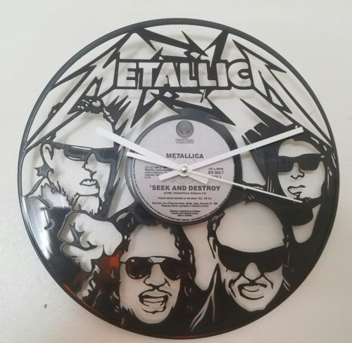 METALLICA  Rock Vinyl Record Wall Clock Art Home Decor 12