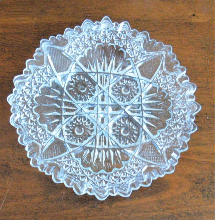 Early American Clear Pattern Glass 7