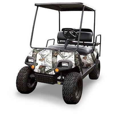 New Mossy Oak Graphics (10060-WR) Winter 4 x 10 Roll Golf Cart Camouflage Kit