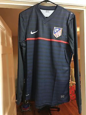 Atletico Madrid #9 Falcao 100% Authentic Player Issue Jersey Sz L 2011/12 Away