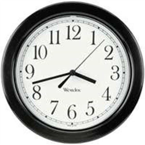 8.5 Round Wall Clock Black