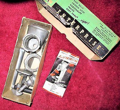 enterprise food chopper no 55 A original box information mid century hand tool