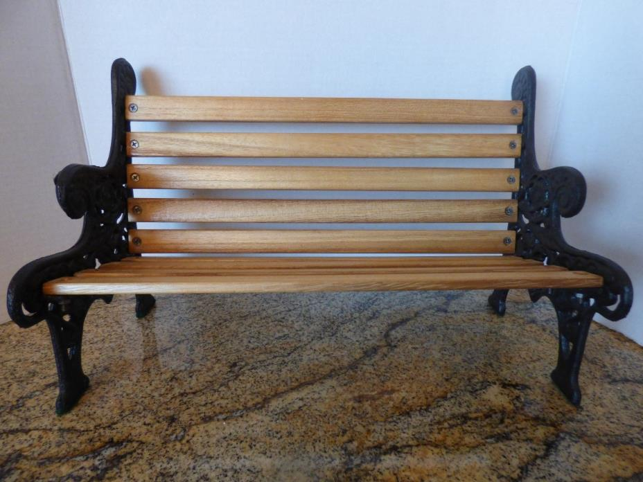VINTAGE PARK BENCH FOR DOLL/BEAR DISPLAY COLLECTIBLE