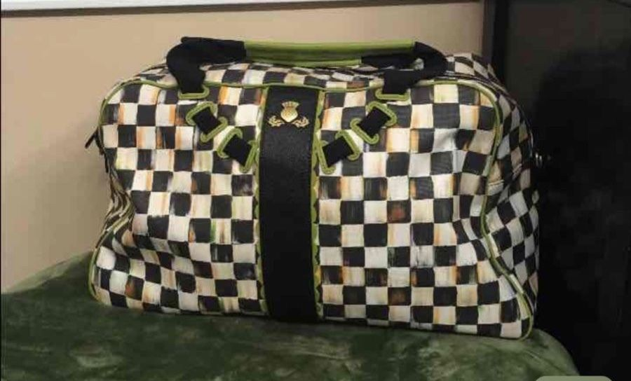 mackenzie childs large duffel bag