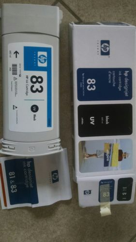 HP Designjet 5000, 5500, & 5500ps series #83 Black UV Ink Cartridge opened