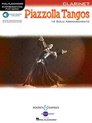 Piazzolla Tangos for Clarinet Solo Sheet Music Play-Along Book Online Audio NEW