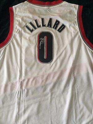 DAMIAN LILLARD Signed Autograph Portland Trail Blazers Jersey NBA XL