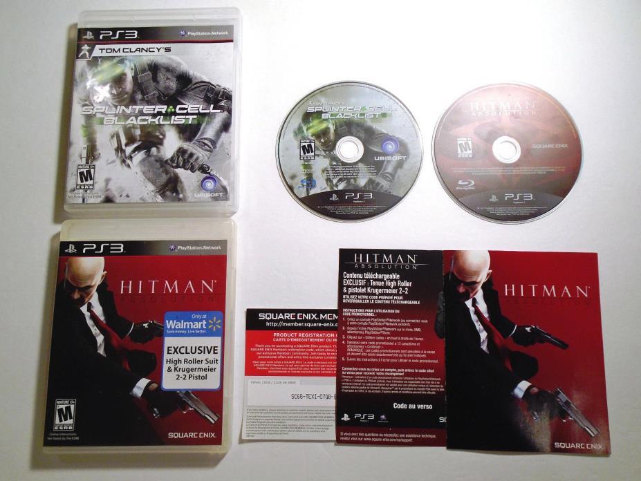 Hitman: Absolution & Splinter Cell: Blacklist (PlayStation 3) PS3 LOT