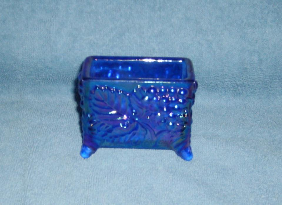 Boyd Glass Grape Card Holder Carnival Cobalt Blue