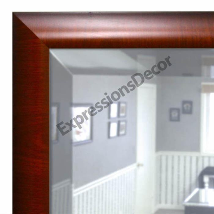 Custom Greenwich Crossgrain Beveled Wall Mirror, Mantle & Bathroom Art Decor