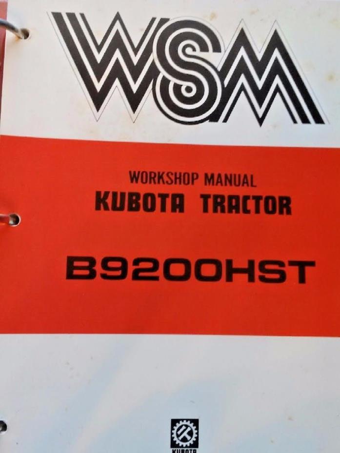 Kubota Repair Manual - For Sale Classifieds