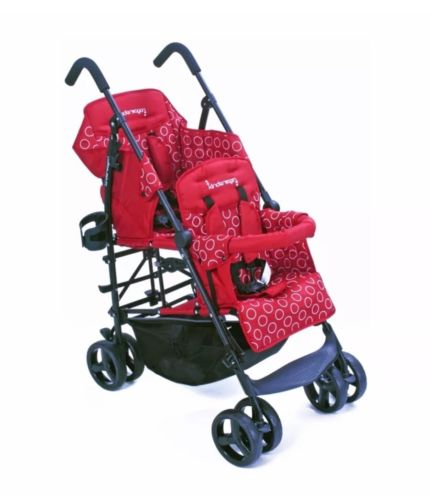 Kinderwagon HOP Tandem Double Umbrella Stroller in Red New Open!! Free Shipping
