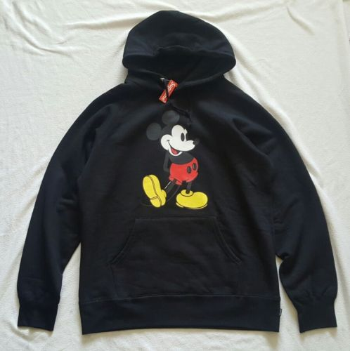 SUPREME DISNEY MICKEY MOUSE RAGLAN HOODED PULLOVER sz. XL NWT DISNEYANA box logo