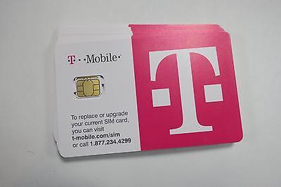 (5) T-Mobile Nano SIM Cards, UNLOCKED, iPhone 5 6 7, Galaxy 6 7 8, BRAND NEW!