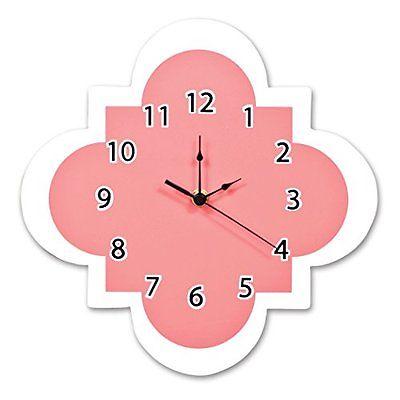 Trend Lab Quatrefoil Wall Clocks Clock, Coral