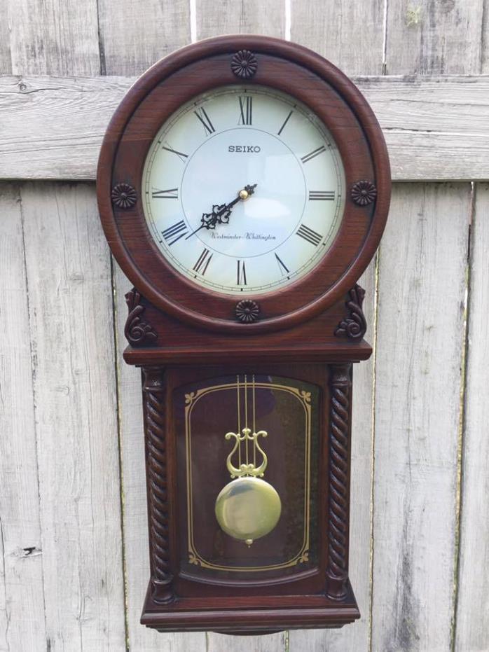 Wall clock seiko for sale classifieds for Seiko quartz wall clock