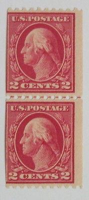 unused us stamps scott # 442 line pair