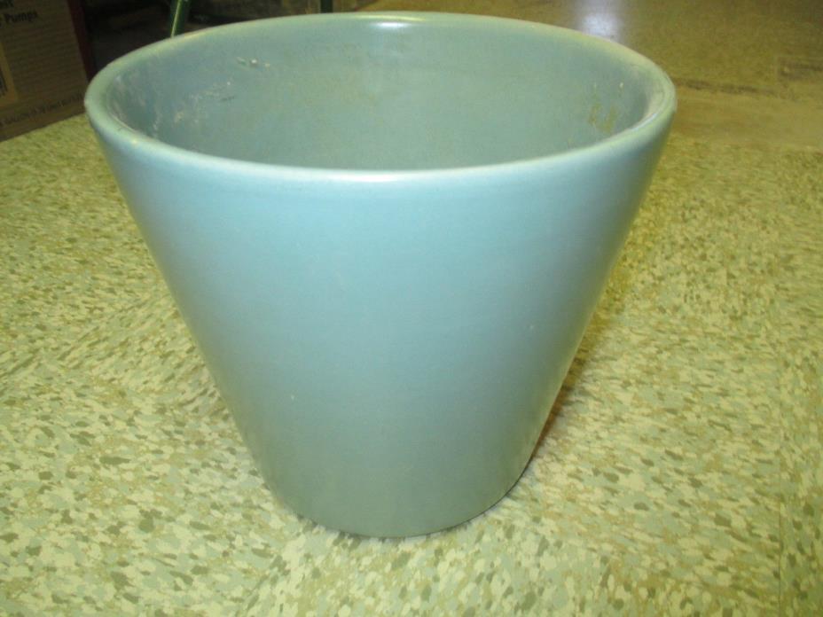 Vintage U.S. Pottery turquoise/green Flower Pot #408
