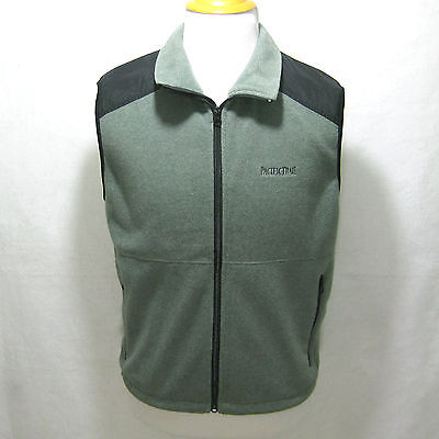 Mens Pacific Trail Green Gray Fleece Vest Jacket Coat Size Medium M London Fog