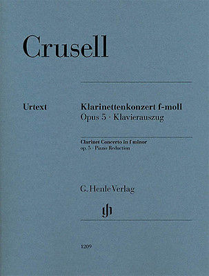 Crusell Clarinet Concerto F Minor Op 5 Piano Sheet Music Henle Urtext Book NEW