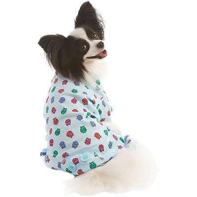 Owl Print Dog Pj's Blue Medium 660204020558