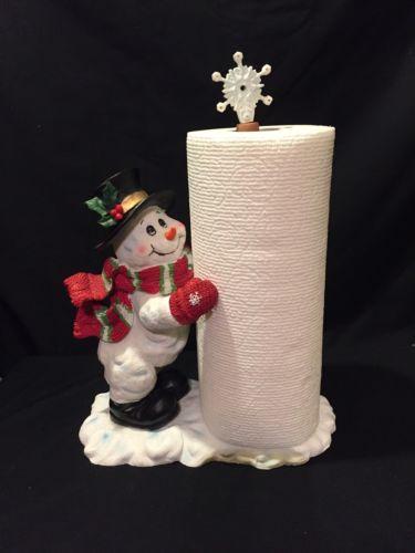 Snowman Paper Towel Holder