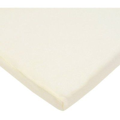 TL Care Supreme 100% Sheets Cotton Jersey Knit Fitted Cradle Sheet, Ecru