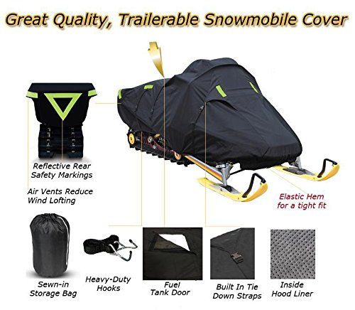 Trailerable Snowmobile Snow Machine Sled Cover Ski Doo Skandic Tundra LT 550F