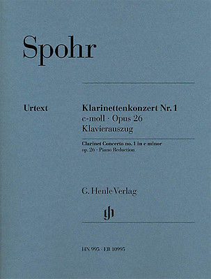 Spohr Clarinet Concerto No 1 C minor Op 26 Piano Sheet Music Henle Urtext Book