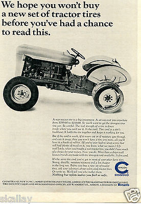 1964 Print Ad of Monsanto Chemstrand Nylon Tractor Tires