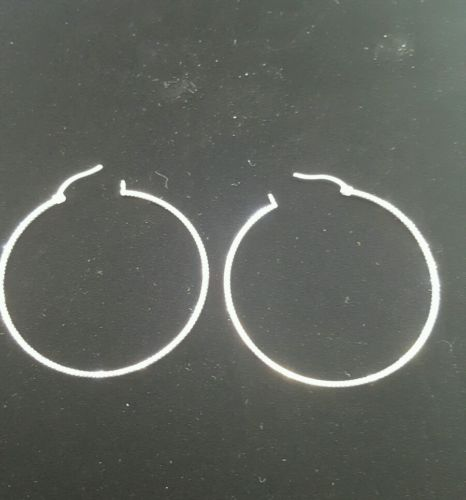 925 sterling silver hoop earrings. arracadas de oro 925. Arracada de plata