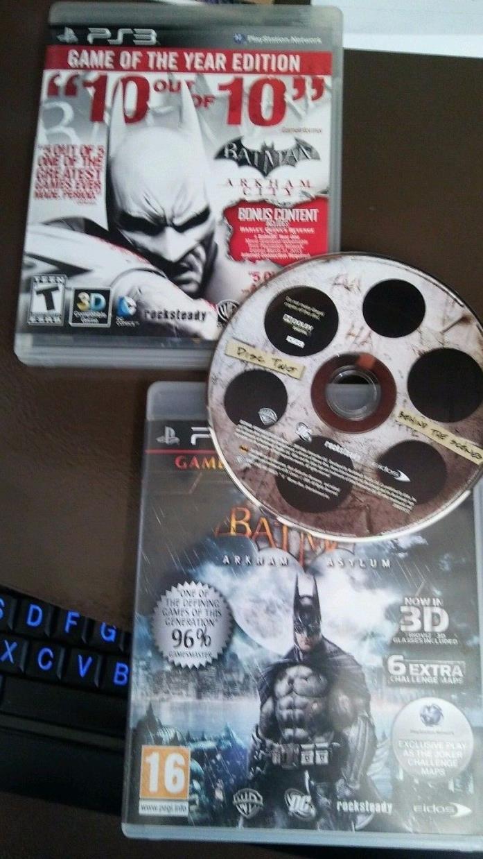 Batman Arkham Asylum & Arkham City PS3 GOTY edition with bonus playstation 3