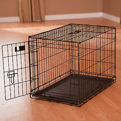 Crate Dog Folding Single Door Metal Midwest Inch Icrate Divider W Inches Pet New