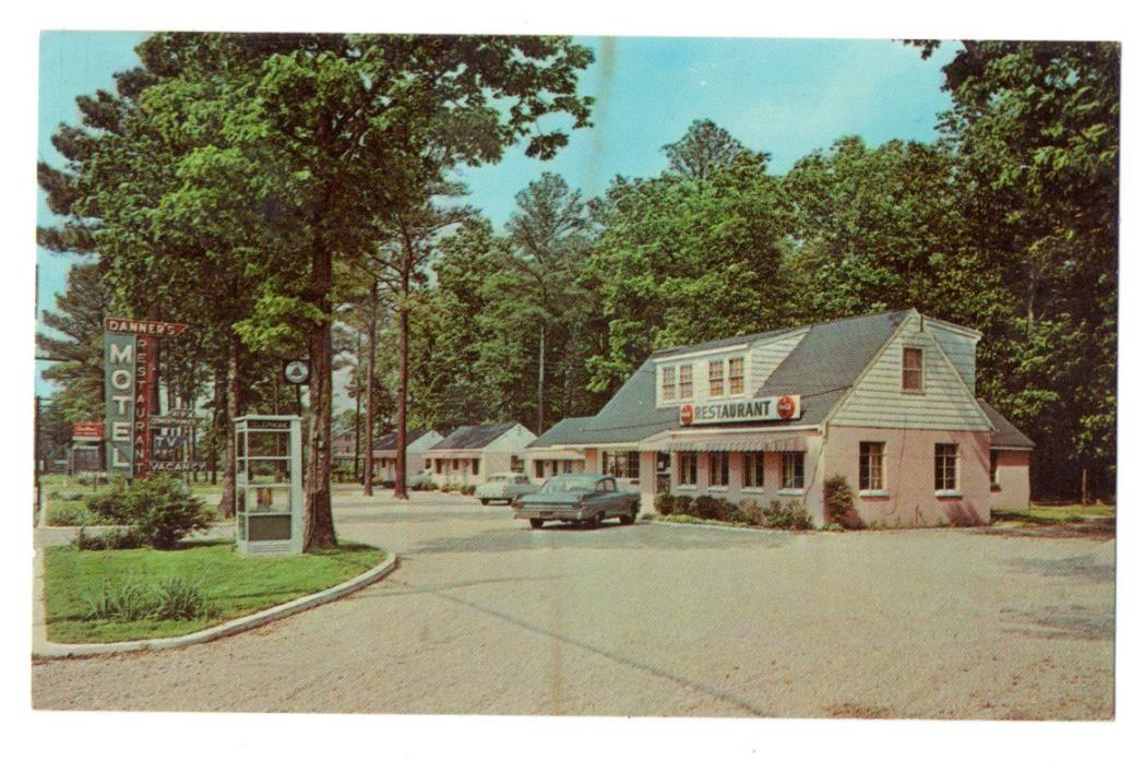 Danner's Motel & Rest. (Coca Cola and Phone Bth), near Richmond, VA Old Postcard