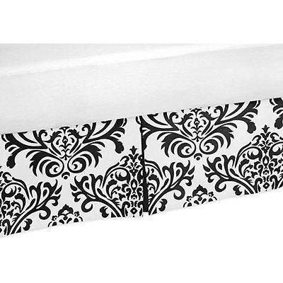 Black and White Isabella Bed Skirts Bed Skirt for Toddler Bedding Sets by Sweet