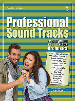 Professional Sound Tracks Vol 6 Vocal Sheet Music Minus One Sing-Along Book CD