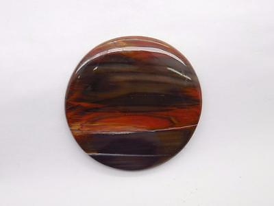 Petrified Wood Cabochon Round C27 Lapidary Rock Jewelry Wire Wrap Pendant