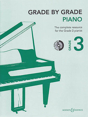Grade by Grade Piano Grade 3 Learn to Play Classical Music Lessons Book CD NEW