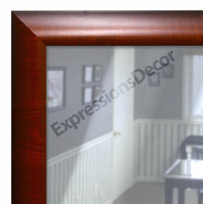 Custom Greenwich Crossgrain Flat Glass Wall Mirror, Mantle & Bathroom Art Decor