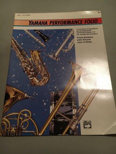 Yamaha Performance Folio B Flat Clarinet