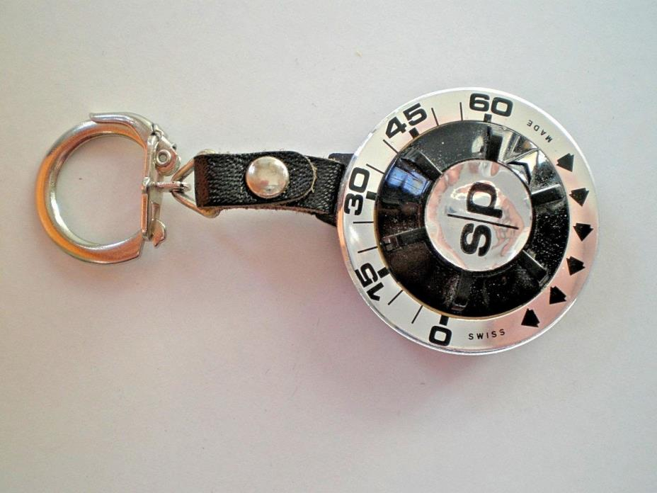Vintage Memo Park Black Key Chain Parking Meter Timer