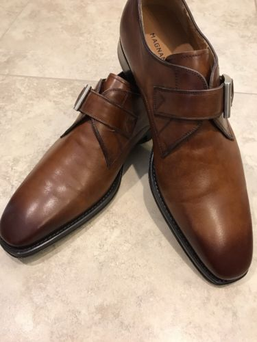 Magnanni Tudanca Buckle Dress Shoe, Brown, SIZE 9 1/2 M Retail for $325