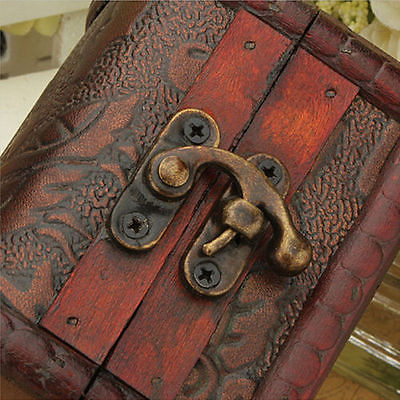 Vintage Style Small Metal Lock Jewelry Treasure Chest Handmade Box