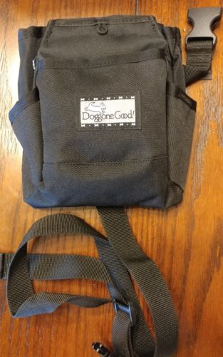 Rapid Rewards Deluxe Dog Training Bag with Belt by Doggone Good! Black