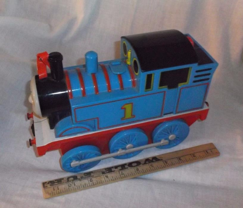 Thomas the Train carry case large blue plastic vintage 1992