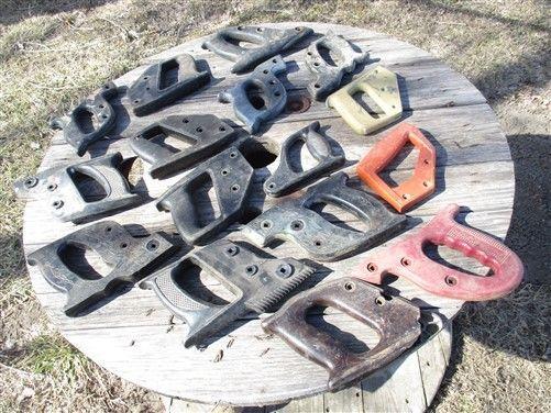 16 Plastic Hand Saw Handles One Man Cross Cut Disston Keen Kutter Set Vintage a