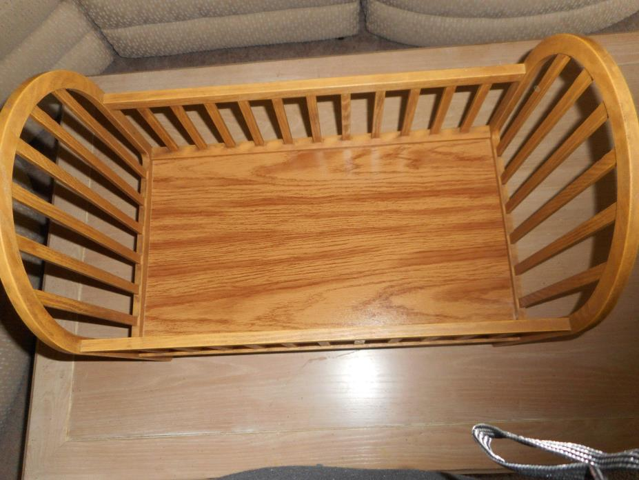 Baby Doll Bed or Cradle Wood Composite with Mattress