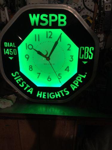 vintage neon wall clock