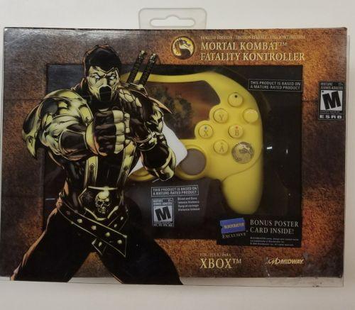 Original Xbox Mortal Kombat Scorpion Limited Edition Controller In Box