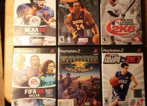 lot of 6 ps2 games sports .  socom
